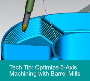 Barrel tools for 5-axis machining