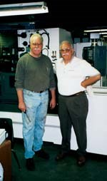 Bellwether's president Bob Jenkins (right) and his brother John