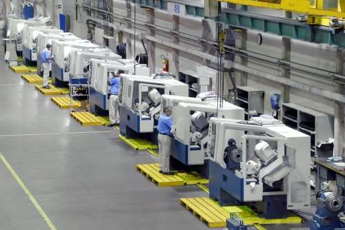assembly of horizontal CNC turning centers