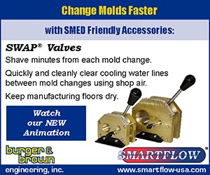 SWAP® Valve Clears Mold Cooling Lines Quickly