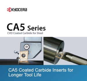 Kyocera CA5 series coated carbide inserts