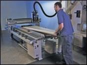 CNC routing of PVC panels