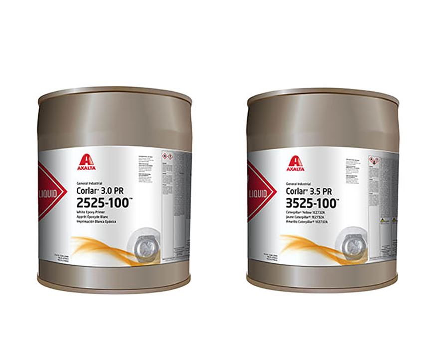 Corlar 3.5 PR and 3.0 PR high solid epoxy primers are formulated to be highly durable with very fast dry times to deliver excellent corrosion and chemical resistance for most coating types. (Photo: Axalta)