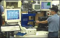 Camcraft optical tool presetter at the rotary transfer machines