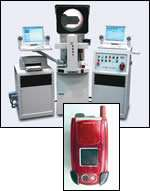 Camera phone on CNC comparator