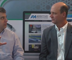 Peter Zelinski of Additive Manufacturing magazine and Roger Hart, R&D engineering manager with Siemens