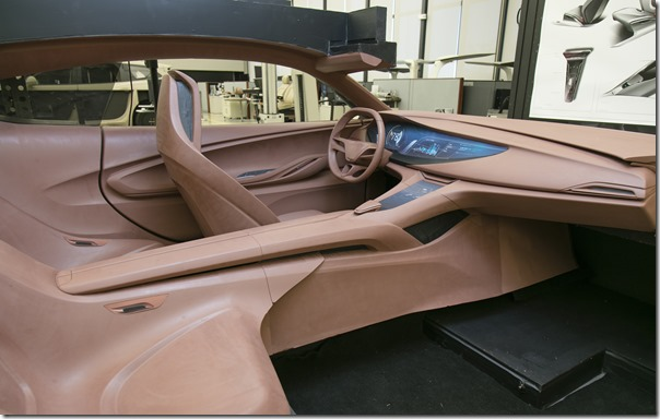 The hand-sculpted clay model of the Buick Avista Concept shows the designers their vision in the physical form.