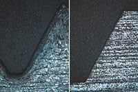 Cold forming compresses and redirects material grain