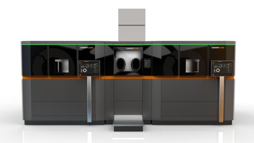 Handling station with two processing stations