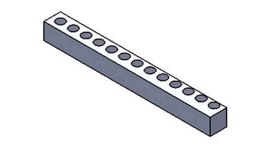 square-shaft part