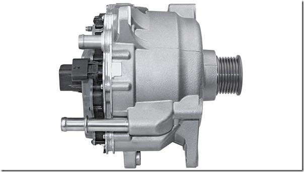 48 Volt Elektromotor mit    integriertem Umrichter