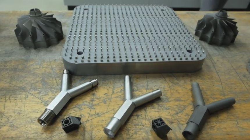Laser-melted test parts