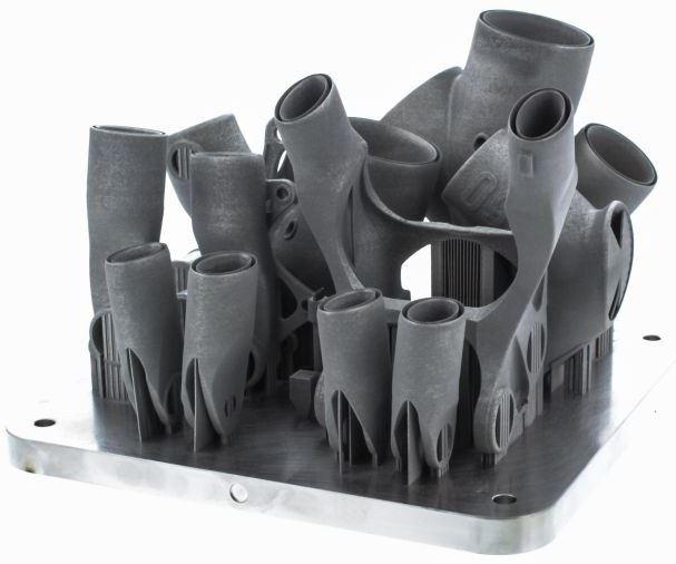 titanium lugs on 3D printing build plate