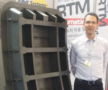 Cyclone's one-shot RTM, all-composite door was displayed at JEC World 2016.