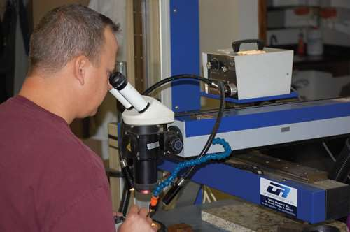 Laser welding at Five Star Tool Welding Corp.