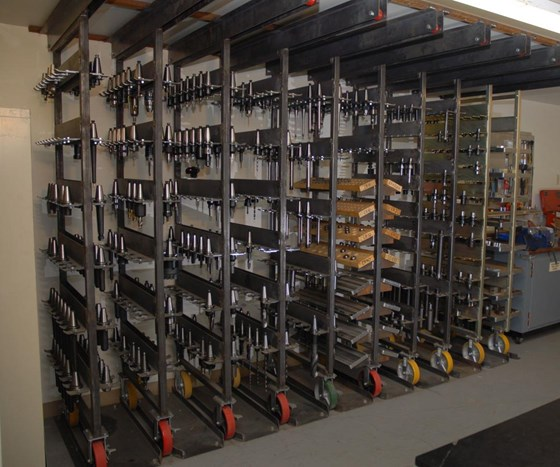 Custom tool storage system simplifies setups modern for Online shelf design tool