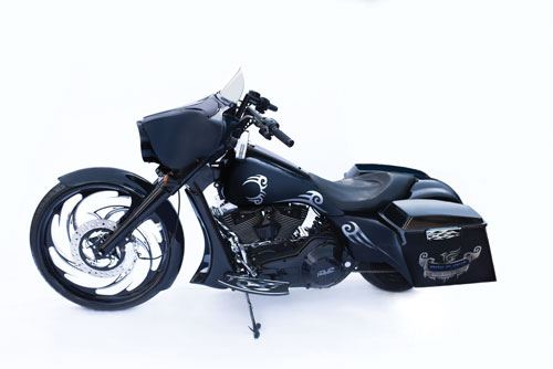 The special edition Mike Tyson Iron Flight motorcycle.
