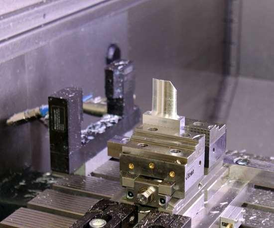 testing on an aluminum blisk on a DMG MORI HSC 55