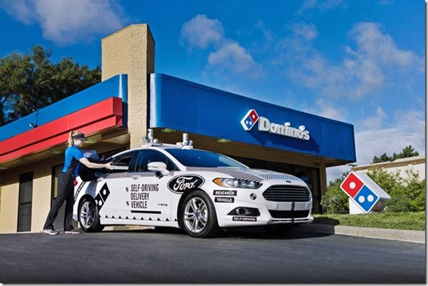 Domino's and Ford Deliver Autonomously image