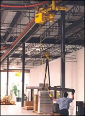 DuPage Machine Products' overhead delivery system