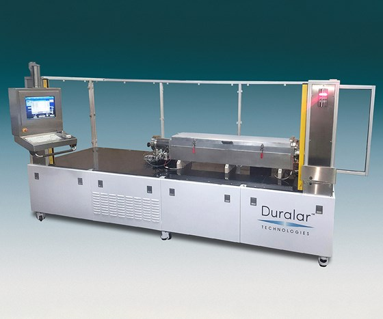 Duralar's CS-50 system can coat both the inside and outside surfaces of metal parts using its DualArmor process.