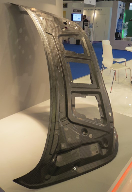 Euro Advanced Carbon Fiber Composites Gmbh displayed a trunk structure by Mercedes.