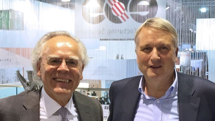 Dr. Hans Langer, founder and CEO, EOS; Dr. Peter Operparleiter, CEO, GKN