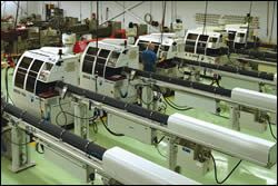 Eight Deco nine-axis machines