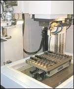 Electrical discharge machining area