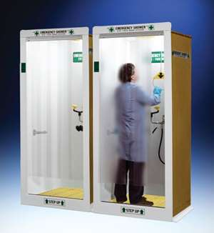 Hemco emergency shower/decontamination booth.