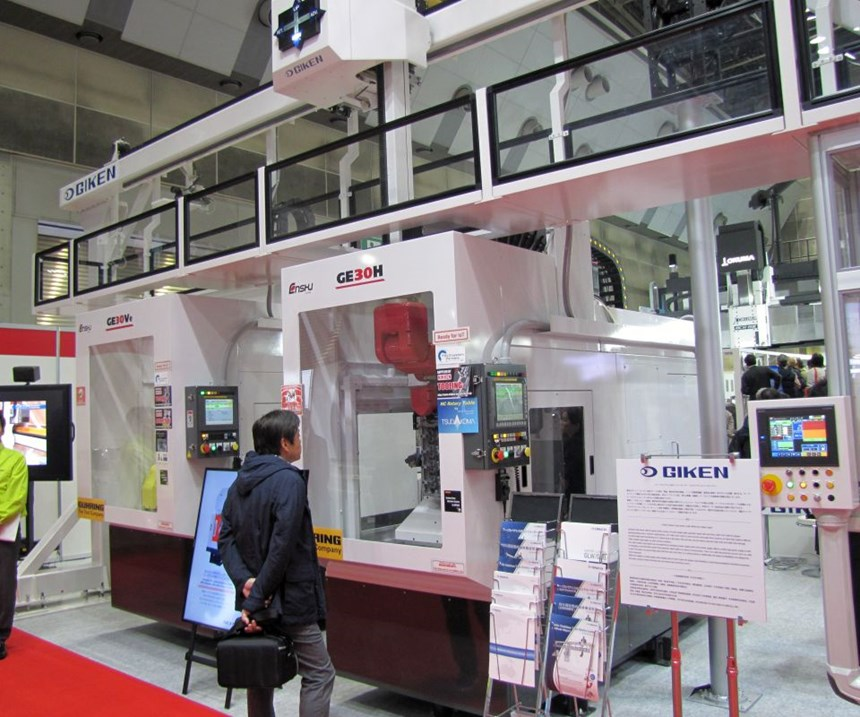 Enshu GE30V and GE30H at JIMTOF are IIOT ready