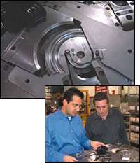 Examine a molded part