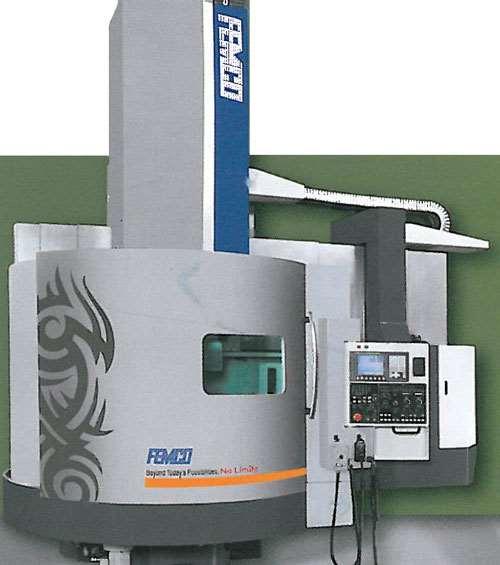 Femco's NVL-12 vertical turning and milling machine