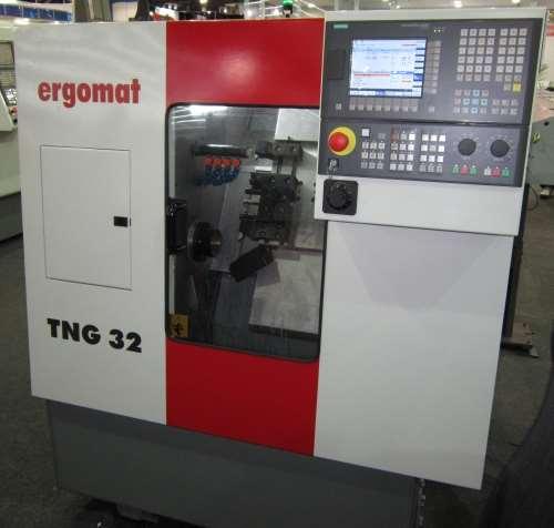 Ergomat's compact TNG 32 automatic CNC lathe
