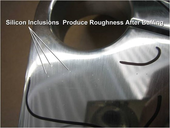 Effect of Silicon Inclusions on Buffing