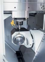 Five-axis machining in the high speed mode