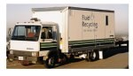 Fluid recycling truck