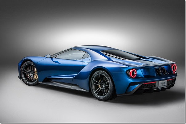 All-New Ford GT RL, 3/4 Rear, January 2015