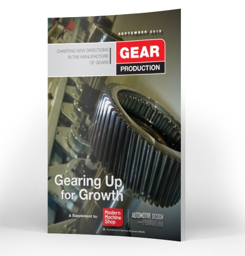 September 2015 Gear Production Supplement