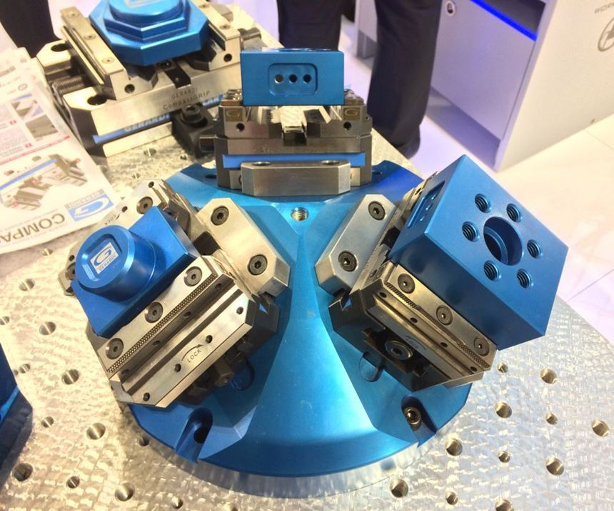 Gerardi's Compact Grip five-axis workholding vises