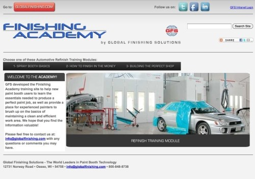 Online Paint Booth Training from GFS