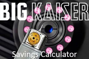 Big Kaiser Cost-Benefit Calculator