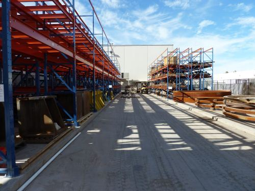 L&H's stock yard storing pinions