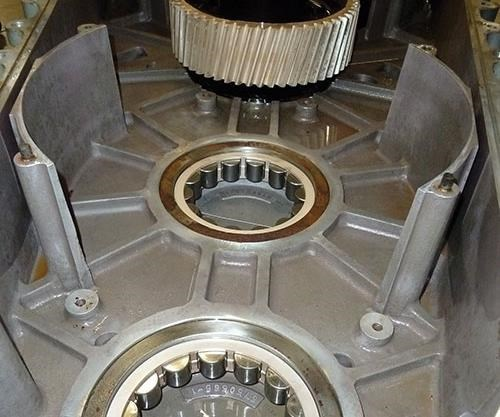discoloration around bearings