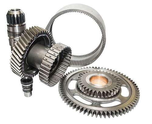 sampling of gears produced by Global Gear