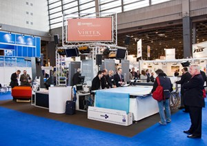 Virtek/Gerber booth