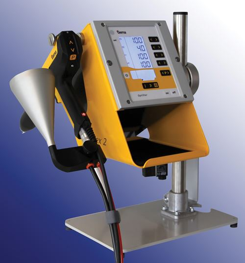 Gema's OptiFlex2 CF funnel powder coating unit