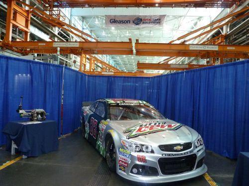 NASCAR parts were on hand