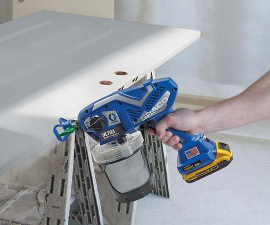 The Graco Ultra and Ultra Max airless handheld sprayers are available in corded and cordless models.