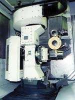 Grinding setup on a horizontal machining center